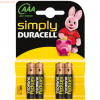 Duracell Batterie Simply AAA Micro 4 Stück