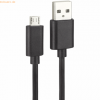 D-Parts Fontastic Essential USB 2.0 Datenkabel Micro USB 0,8m Schwarz