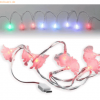 D-Parts Fontastic MOTIV LED Ladekabel Typ-C USB, 1,2m, 9 LEDs Rosen