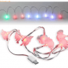 D-Parts Fontastic MOTIV LED Ladekabel Micro-USB 1,2m, 8 LEDs Rosen