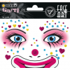 5 x Herma Sticker Face Art Clown Annie