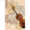 RNK Notizbuch Memo my style 11x17cm Softcover Feel the Music liniert 6