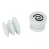Bike Ribbon - Silikon End-Plugs Jelly (Paar) - Lenkerband grau