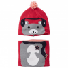 Columbia - Kid´s Snow More Beanie And Gaiter Set - Mütze Gr One Size grau/rosa