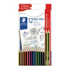 AKTION: 12 STAEDTLER Noris® colour Buntstifte farbsortiert + GRATIS 2 Noris eco Bleistifte HB
