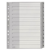 LEITZ Register 1282 1-12 grau 12-teilig