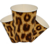 Dschungelparty-Becher in Leopardfell-Optik aus edler Pappe, 10er, 0,2l