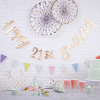 Partygirlande \´´Happy 21st Birthday\´´, 1,5m