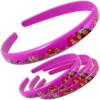 Princess Haarreifen, 4er Set, pink