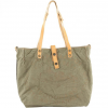 Campomaggi Carry Over Shopper Stone Washed Fabric/Cowhide Leather 32 cm - military natural print gold