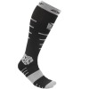 Exalt Paintball Kompressions Socken, lang (schwarz / grau) L/XL