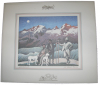 Grivel Grand Paradiso - Lithographie Poster mit Reliefdruck