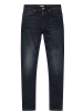 HIS Herren Jeans Elliot - Tapered Fit - Mid Waist - Blau - Pure Dark Blue Wash