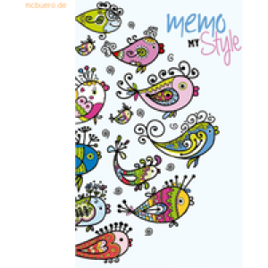 RNK Notizbuch Memo my style 8x13cm Softcover Swimming Birds liniert 64