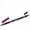 Tombow Dual-Fasermaler ABT mit Rundspitze/Pinselspitze port red