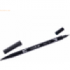 Tombow Dual-Fasermaler ABT mit Rundspitze/Pinselspitze cool grey 12