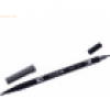 Tombow Dual-Fasermaler ABT mit Rundspitze/Pinselspitze cool grey 10