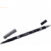 Tombow Dual-Fasermaler ABT mit Rundspitze/Pinselspitze cool grey 7