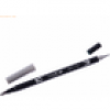 6 x Tombow Dual-Fasermaler ABT mit Rundspitze/Pinselspitze cool grey 3