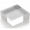 10 x Deflecto Acryl-Block 100x40x100mm transparent