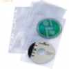 Durable CD/DVD Cover light S für A4-Ablage mit Universallochung VE=5 H