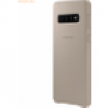 Samsung Samsung Galaxy S10 - Leather Cover EF-VG973, Gray