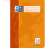 Oxford Schulheft A4 blanko/Rand 24 16 Blatt orange