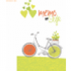 RNK Notizbuch Memo my style 8x13cm Softcover Green Bicycle liniert 64