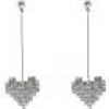 Sweet Deluxe Paar Ohrstecker Herzen Crystal Heart long 7837