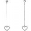 Sweet Deluxe Paar Ohrstecker Herzen Crystal Heart long 7855