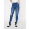 pieces Ripped Knee Mom Jeans