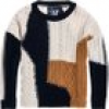 Superdry Strickpullover CODIE STITCH PATCHWORK KNIT