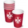 1.FC Kaiserslautern Partybecher 10er Pack, 350ml, Pappbecher, Einwegbecher Fußballparty