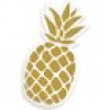 Ananas Sommerparty 6x Teller in Ananas-Form 12,2cm x 23,5cm