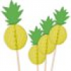 Ananas Sommerparty 10x Waben Food Picker, 18cm