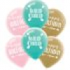 Boho Chic Hippie Party, 6 Luftballons mit Druck, Partyballons