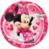 Minnie Mouse, farbenfrohe Kuchenteller 10er Pack, d=19,5 cm, Minniemaus Partyteller Set