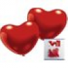 Rote Herzballons 30 cm Durchm., 5er-Pack