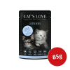 Cat´s Love Nassfutter Junior Kalb mit Eierschalen & Lachsöl 85g