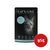 Cat´s Love Nassfutter Lachs Pur mit Distelöl & Petersilie 85g