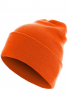 MSTRDS Beanie Basic Flap Long Version Mütze - Orange